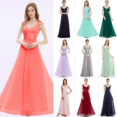 be35165f9cd24 Ever-Pretty Long Formal Bridesmaid Dresses Backless Wedding Evening Gown  09672