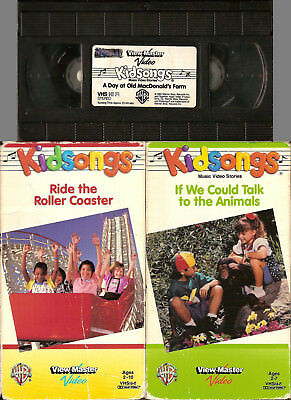 3-KIDSONGS-VHS-TALK TO THE Animals-Ride The Roller Coaster ...
