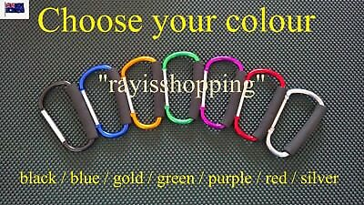 1 x Pram Clip Carabiner Large Carry Hook Locking Stroller D-Ring D Ring Shopping