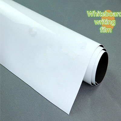 White Single Side Self Adhesive Writing Whiteboard Film Width: 20''Convenient