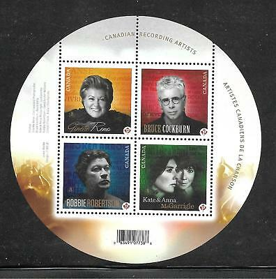 Canada #2482b Canadian Recording Artists Souvenir Sheet 2011 MNH