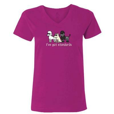 """Teddy the Dog T-Shirt """"I Have Standards"""" - New With Tag"""