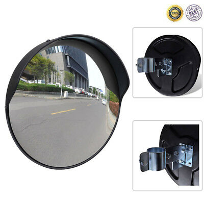 "12"" Outdoor Road Convex Traffic Round Mirror PC Wide Angle Driveway Security"