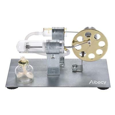 Mini Hot Air Stirling Engine Motor Model Educational Toy Kit Christmas Gift Y6H8