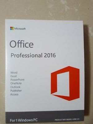 Genuine Microsoft Office 2016 Professional Pro Plus 32/64Bit Full & Lifetime Key
