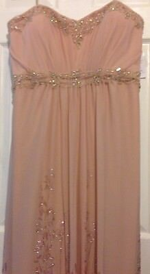 Gown, Size 14 Blush Color NEW, REDUCED FOR QUICK SALE