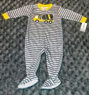 NWT Carters Baby Boy Clothes 12 Months One Piece Truck Footie Pajama Sleeper