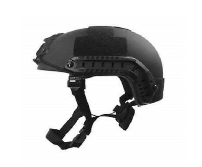 FAST Special Forces High Cut Ballistic Helmet Black, w/ Accessories-- Black-