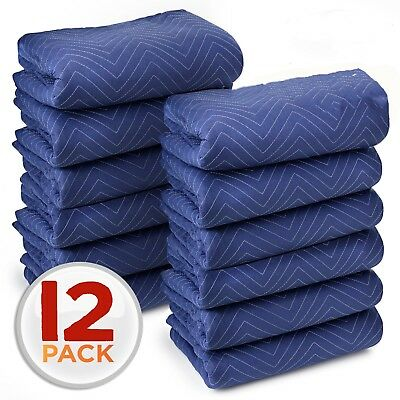 Moving Blankets Set of 12 Quilted Packing Pad Cheap Blanket for Moving Furniture