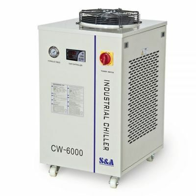 110V 60Hz CW-6000DN Industrial Water Chiller for 100W Solid-state Laser/22KW CNC