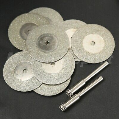 10pcs 30mm Mini Diamond Cutting Discs Arbor Power Drills Rotary Tool Tool