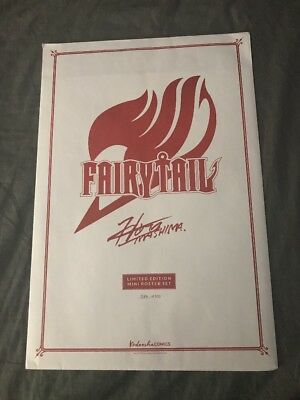 NYCC 2017 Exclusive Fairy Tail Poster Set Of 4 - Limited 277 Of 300