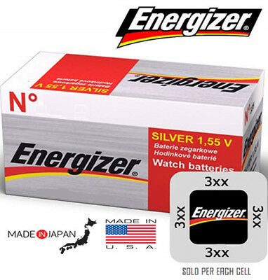 Energizer 1.55V Silver Oxide Watch Battery - Made in JAPAN & USA - Various Sizes