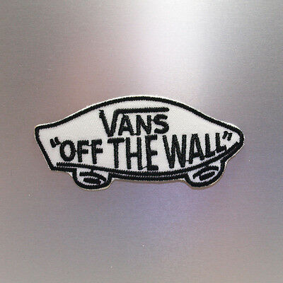 Vans Patch — Iron On Badge Embroidered Motif — Skate Skater Sk8 Off The Wall