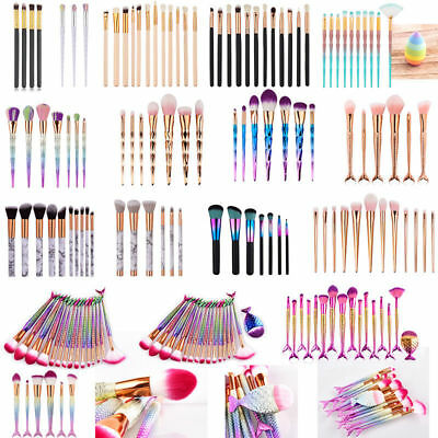 Mermaid Unicorn Kabuki Makeup Brush Set Cosmetic Foundation Powder Brushes Tool