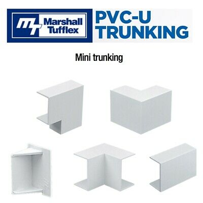 PVC Mini Cable Trunking Shapes Connectors Accessories For Marshall Tufflex Range