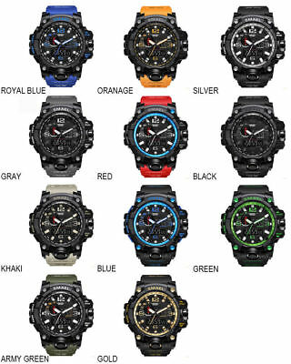SMAEL Brand Men's Sport Watch 5ATM Waterproof Digital Watch LED Wristwatch 1545