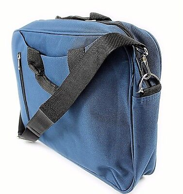 "Blue 14"" Widescreen Laptop Bag Notebook Carry Case Shoulder Strap Messenger Uk"