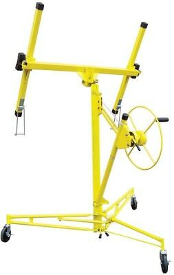 Home Building Materials Construction Rolling Drywall + Panel Hoist Lifter Yellow