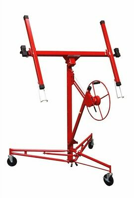 Home Building Materials Construction Rolling Drywall + Panel Hoist Lifter Red