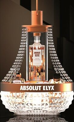 Rare Absolut Elyx Vodka Copper Chandelier Ice Bucket Display With Free Shipping