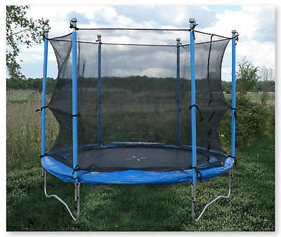 Spare Parts Available 8Ft Sports Trampoline With Safety Net Enclosure Padded