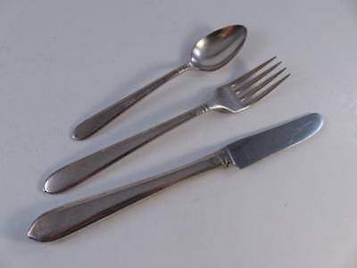 Vintage 1930S Community Silver Plated Childs Flatware Set 3 Pc