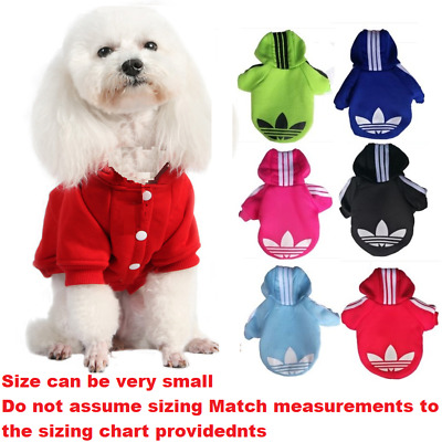 Cat Dog Hoodie Warm Winter Clothes  Jumper XS,S, M, L, XL, XXL