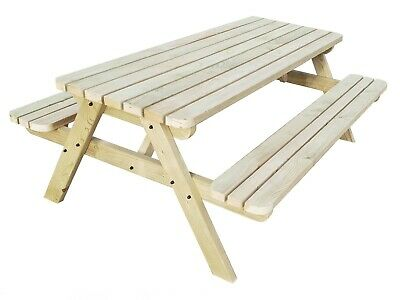 FORTEM ROUNDED Pub Style Picnic Table Bench - 4FT to 8FT - Outdoor Furniture