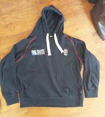 ENGLAND Large Rugby Union World Cup 2015 Hoodie - Size L - Ex Cond.