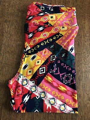 New LuLaRoe S/M Leggings  Multi Color Poly Blend