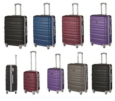 ABS Hard Shell Travel Luggage Suitcase 4 Wheel Spinner Trolley Baggage Cases