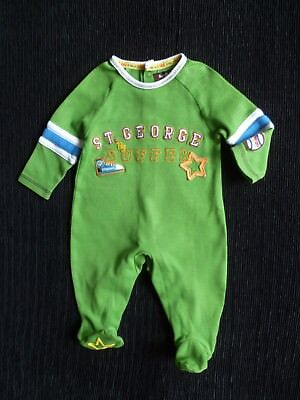 Baby clothes BOY 0-3m NEW! bright green+ St. George by Duffer babygrow SEE SHOP!