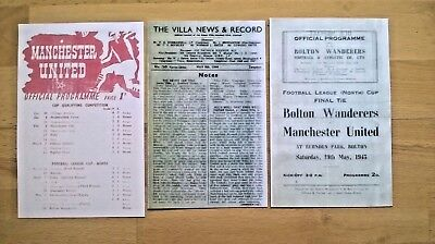 Football League War Cup Final North programmes 1944 & 45 - England