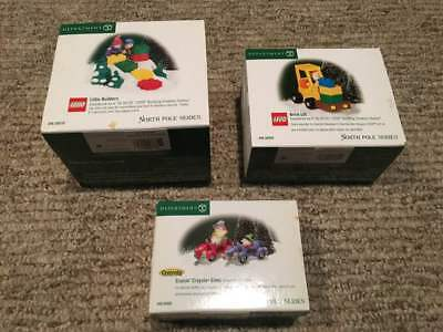 LOT Department 56 Lego Little Builders Cruisin Crayola Brick lift retired 2003