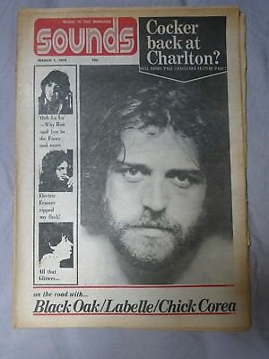SOUNDS 1st March 1975 ~ Joe Cocker ~ Andy Fraser ~ Ronnie Lane!