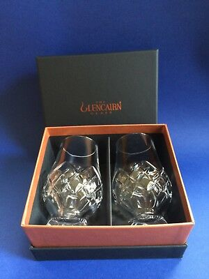 The Glencairn Official CUT Whisky Nosing Glass x 2 in Black & Gold Gift Box