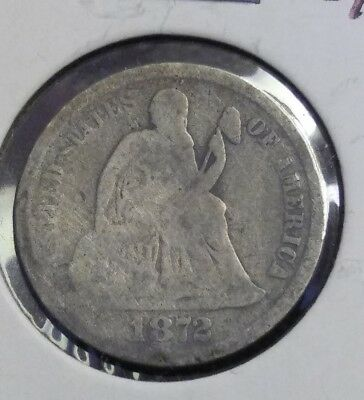 1872-s SEATED DIME - LOW MINTAGE