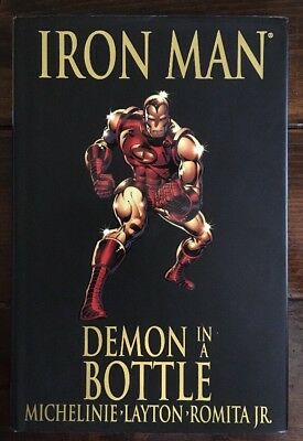 Iron Man Demon in a Bottle #120-128 Trade Paperback TPB SIGNED by Bob Layton!!!