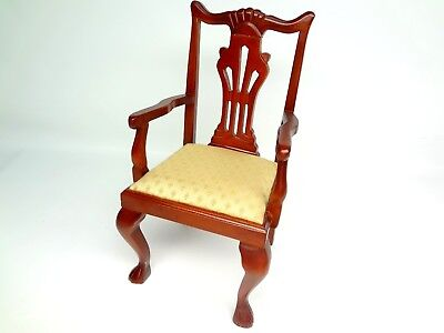 Salesman Sample / Doll Dining Chair Traditional Chippendale Dale Claws Feet Wood