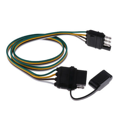 High Quality 80mm Trailer Wiring Harness 4Pin 18AWG Flat Wire Connector