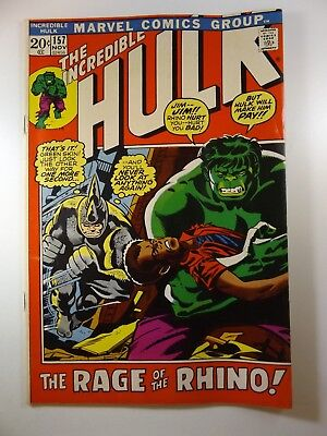 The Incredible Hulk #157 VG- Condition Sharp but Storage Bend