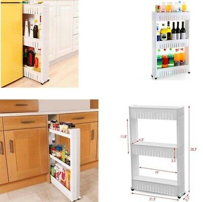 Tier Slim Slide Out Storage Rolling Pull Cart With Wheels For Organizer  Kitchen