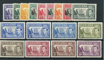St Helena 1938-44 set and 1949 new colours MM SG131/40+ see desc