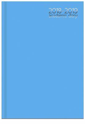 Blue 2018 2019 Academic Mid Year A4 Week To View Hardback Student Teacher Diary