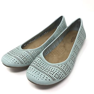 NEW Croft /& Barrow Women/'s Pattie Chop-Out Ballet Flats Memory Foam Blue 155S