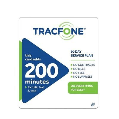 Tracfone $39.99 Refill - 200 Minutes (90 Days)