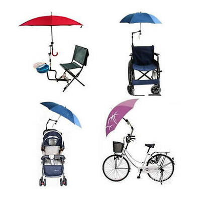 Wheelchair Bicycle Bike Pram Swivel Rain Sun Umbrella Connector Stroller Holder