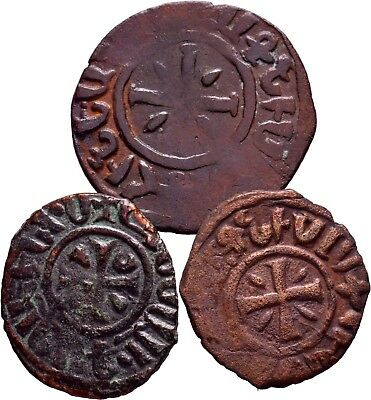 Cilician Armenia. Lot of 3 Royal Hetoum I 1226-1270. Ae