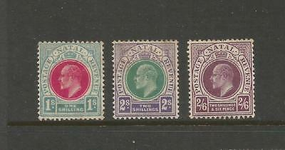 Natal1902-03 Kdvii 1/-, 2/-, And 2/6-. Mint Light Hinged. See Description.